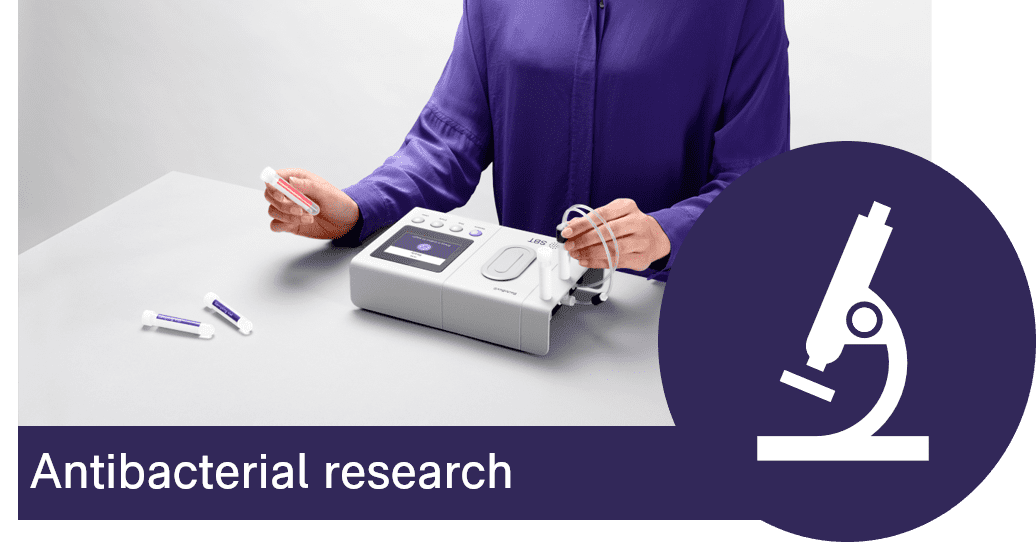 Fast antibacterial measurements with no need for calibration curves